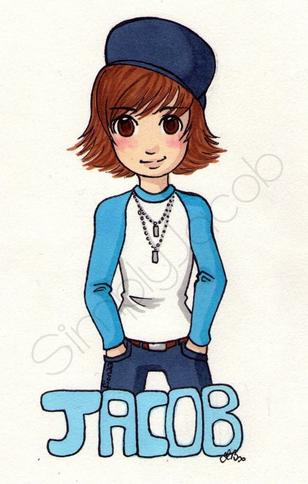Jacob version Chibi dessiné par ma soeur :) ♥ .