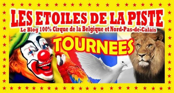 Tournée des cirques en Belgique et Nord-Pas de Calais