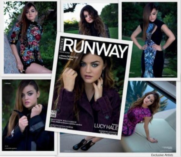 Lucy Hale En Couverture Pour  « RUNWAY »!