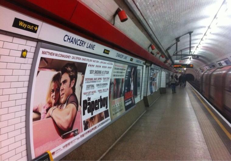 Affiche The Paperboy dans les métros londoniens