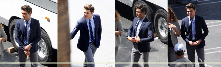 [8 Avril 2013] Zac (en tong) sur le set de Townies