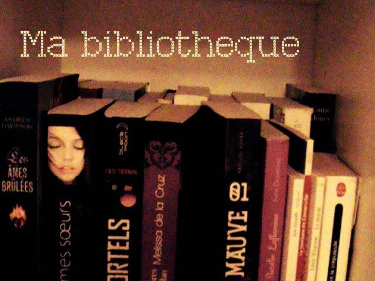 Voici ma (petite) bibliothèque ^^