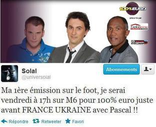 Victoire de la France contre l'Ukraine -  photos vidéos 100% EURO avec P. Obispo et Solal