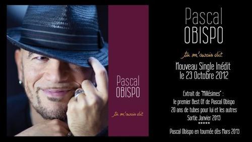"""""""MILLESIMES"""" le premier best of de Pascal Obispo"""