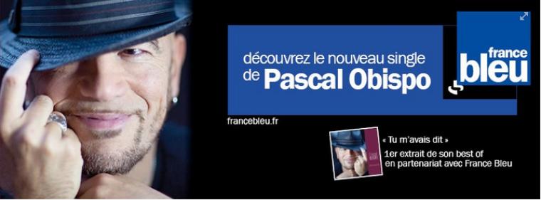 Pascal Obispo sur scène le 23 Novembre prochain !