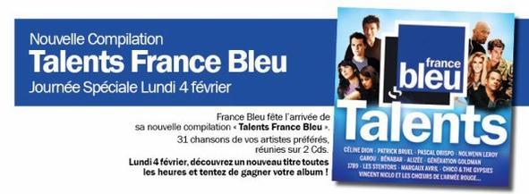 La compilation des Talents FRANCE BLEU avec  @ObispoPascal