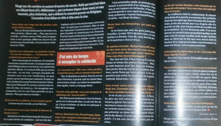 """Interview d' @ObispoPascal dans @cinetelerevue : """"un duo avec @MICHELPOLNAREFF ..."""""""