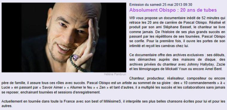 REPLAY  #AbsolumentObispo 20 ans de tubes @ObispoPascal - by @Paradispop
