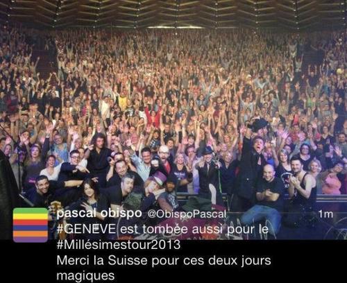 l' OBISPO MANIA sans limite ! après la Belgique, la Suisse est conquise #MillésimeStour2013