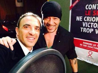 @ObispoPascal et @LineRenaud Ensemble contre le Sida #Sidaction2014 #KissAndLove