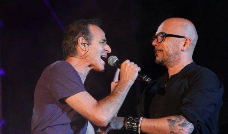 #Ouveillan @ObispoPascal et #JeanJacquesGoldman réunis sur scène pour les #VendangesDuCoeur