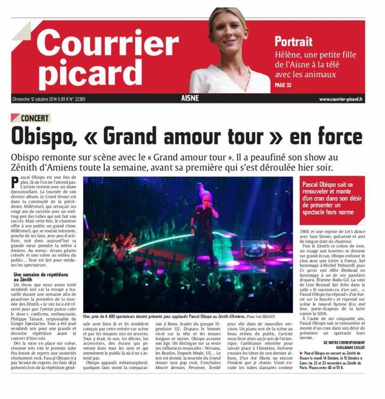 #LeGrandAmourTour la Presse est UNANIME @ObispoPascal au sommet de son art - @Paradispop
