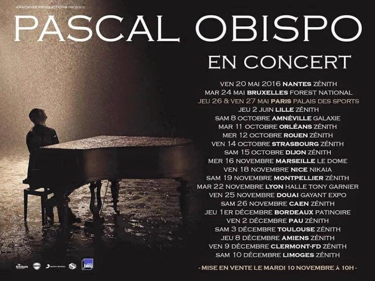 Les dates de la nouvelle tournée d' @ObispoPascal sont dévoilées #LeSecretPerdu