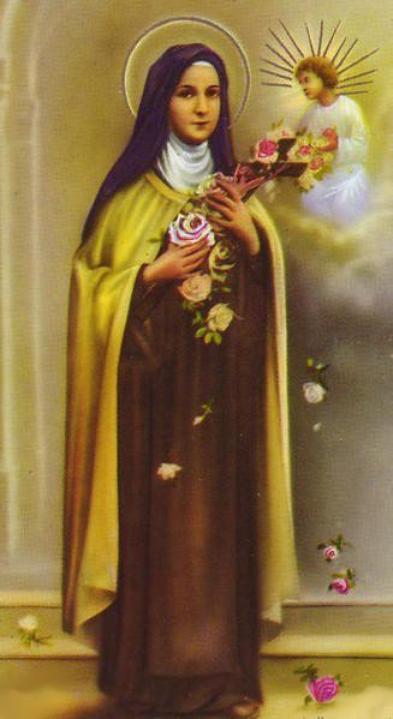 Prière à Sainte Thérèse de l'enfant Jésus.