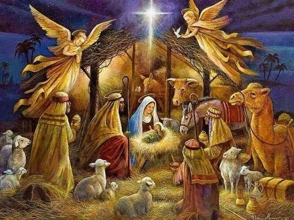 La crèche de Noël.