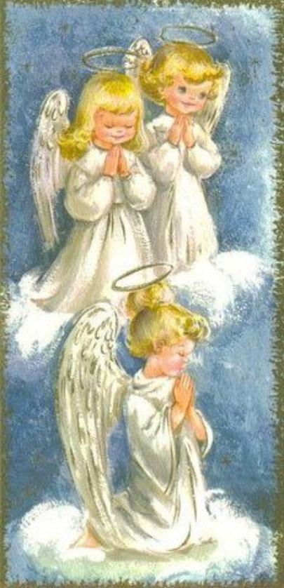 Que ces doux anges bienveillants veillent sur tout le monde!