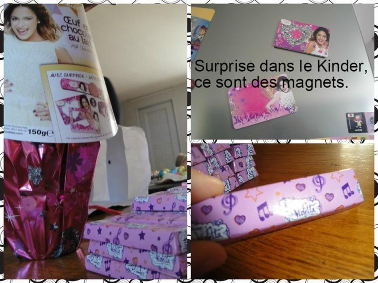 Oeuf surprise Violetta & Kinder Maxi Mini Violetta ♥