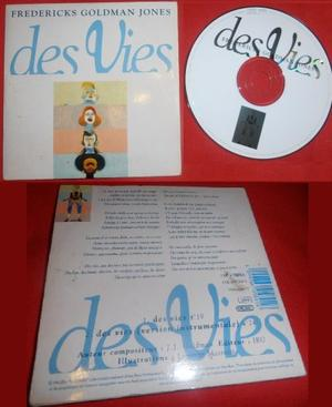 ":)  8-p   %)   $) CD single ""Des vies"" - Fredericks * Goldman * Jones - 1994  :)  8-p   %)   $)"