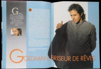 Star mag: Pages 42 / 43: GOLDMAN, BRISEUR DE RÊVES - Pages 44 à 47: MUSICIEN DEMODE