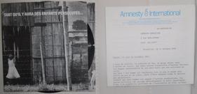 """45 T souple """"Comme toi"""" - Edition limitée offert par Amnesty International - 1988"""