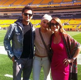 Chelsea et Stephen Colletti ainsi que Jane Seymour on rendue visite a Hines Ward (DWST)  pendant le tournage de Lovestruck A Pittsburgh