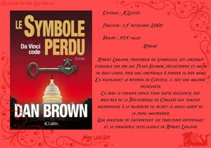 Robert Langdon T.3 : Le Symbole perdu de Dan Brown