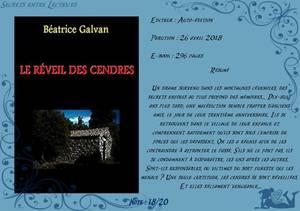 Le réveil des cendres de Béatrice Galvan