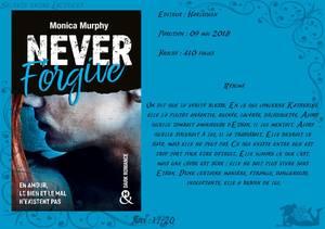 Never Forget Tome 2 : Never Forgive de Monica Murphy