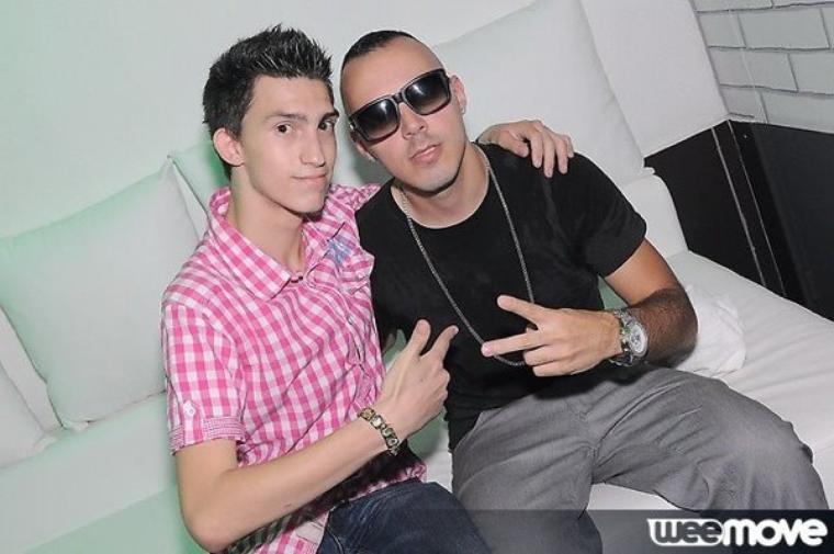 Moi avec le chanteur Lucenzo au Purple :)
