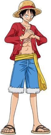 """Monkey D. Luffy dit """"Luffy au Chapeau de Paille"""" ( Avant et après )"""