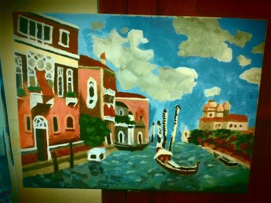 je me suis mise à la peinture... et ça a donné ça: