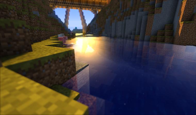 minecraft avec shader