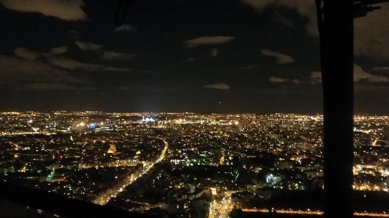 photo de nuit à paris