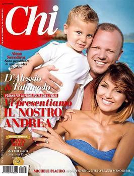 Le couple présente le petit Andrea