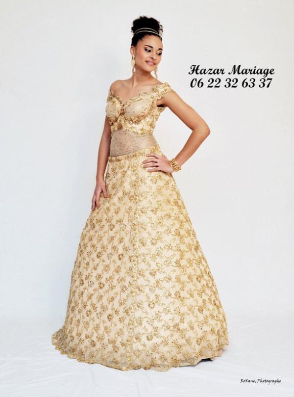 Robe de mariée tunisienne / Kessoua  / Keswa / Fouta ou blousa dorée