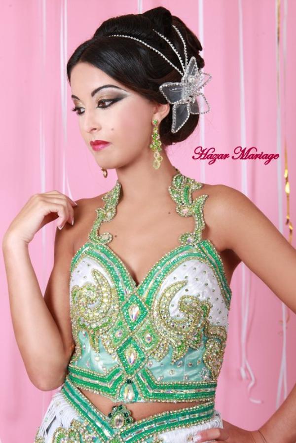 Robe de mariée tunisienne / Kessoua  / Keswa / Fouta ou blousa verte