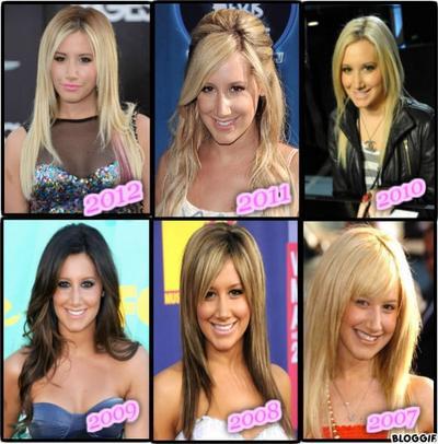 En quelle année préférez-vous Ashley ?