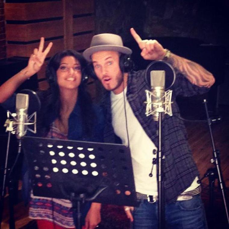 Matt en studio avec Tal, pour enregistrer un duo: