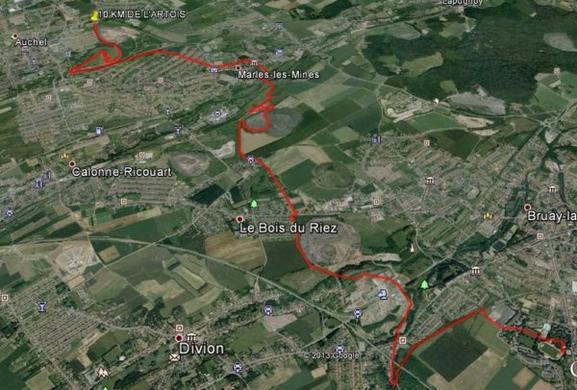Training en terres lensoises et Maratrail de l'Artois