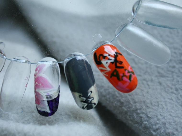 nail art sur capsules n°2