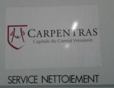 la Ville de Carpentras le service du nettoiement