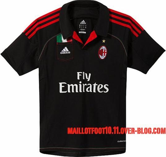 maillot 2012 2013 third du Milan