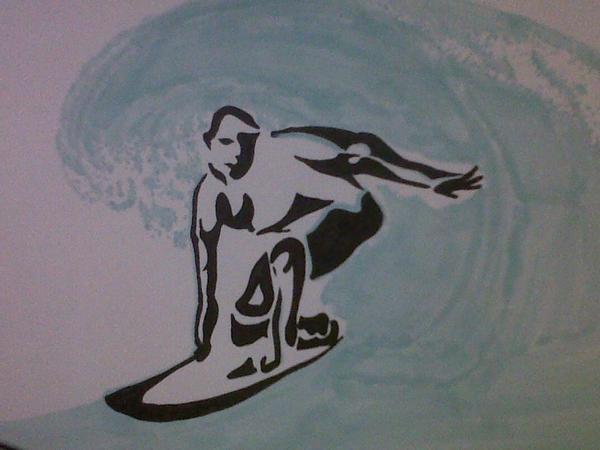 Différents dessins de surfeur !