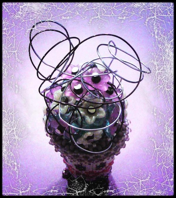 Petit pot de fleurs (Créations Laure)