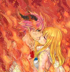 Natsu en dragon