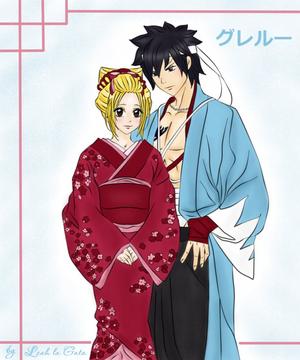 Greylu en kimono