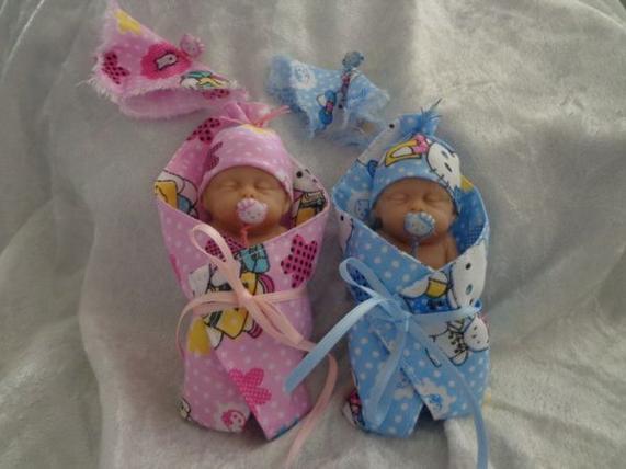 Rose et Bleu ...... bébé dormeur 8cm