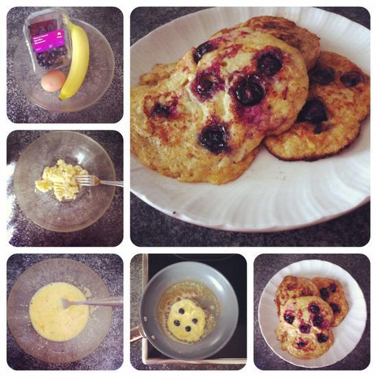 Recette N°2 : Banana Pancakes à la Myrtille !