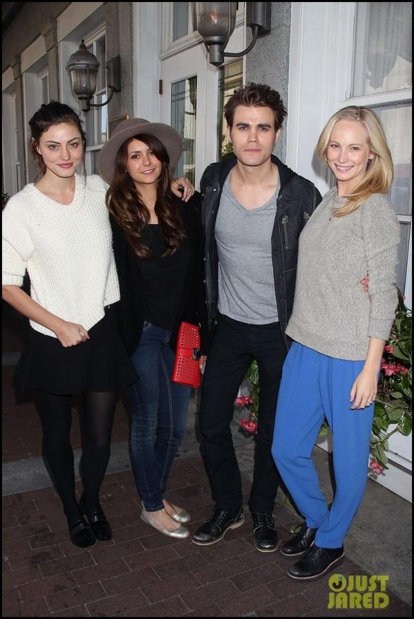 26 Octobre 2013: Phoebe, Nina, Paul et Candice étaient au Savannah Film Festival 2013.