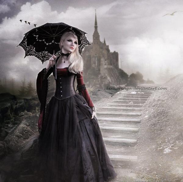 Maria Amanda Schaub : modèle goth